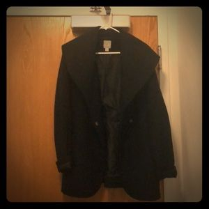 Halogen Black fall coat/peacoat